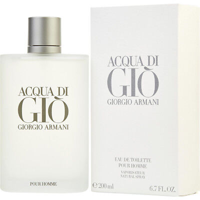ACQUA DI GIO POUR HOMME 200ml EDT SPRAY FOR MEN BY GIORGIO ARMANI -- NEW PERFUME