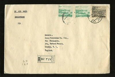 LEBANON 1962 REGIST.AIR to GB + IRAQ PETROLEUM TRIPOLI