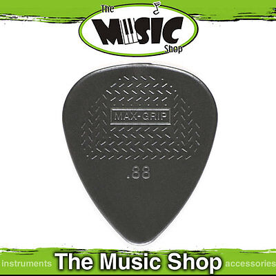 10 x Jim Dunlop Max Grip Nylon Standard Guitar Picks - .88mm Dark Grey Pick New