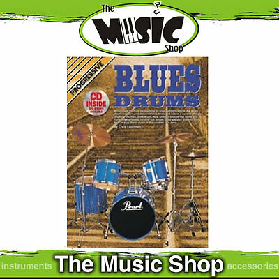 New Progressive Blues Drums Music Book & CD Package by Craig Lauritsen - Tuition