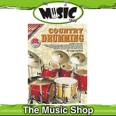 New Progressive Country Drumming Music Book & CD Package -  Drum Tuition