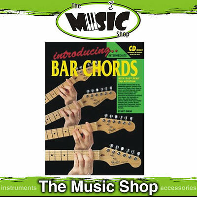 Progressive Introducing Bar Chords Tuition Book & CD Package - New Music Book