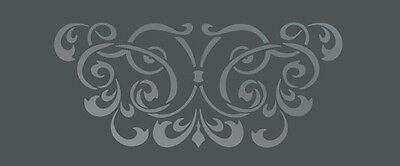 Large Wall Damask Stencil Pattern Faux Mural  #1016