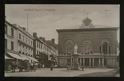Wales CARMARTHEN Guildhall Sq early PPC