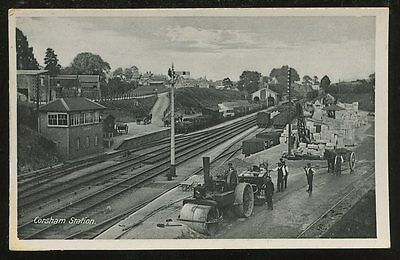 Wilts CORSHAM Railway station early PPC