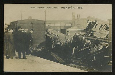 Wilts SALISBURY Railway Disaster 1906 RP PPC Whitfield Cosser