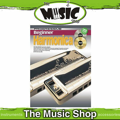 Progressive Beginner Harmonica Music Book, CD & DVD Package - Tuition Book