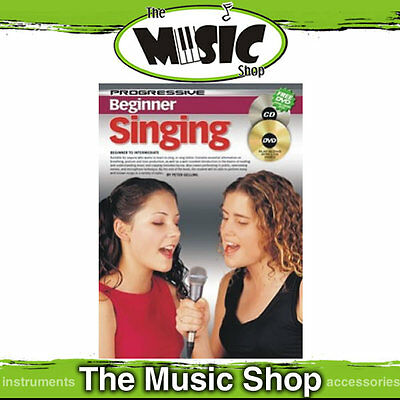Progressive Beginner Singing Music Book, CD & DVD Package - Vocal Lesson Book