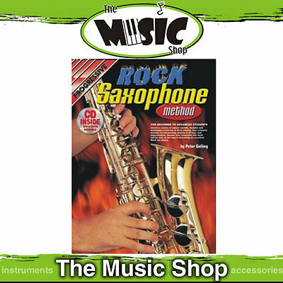 Progressive Rock Saxophone Music Book & CD Package - New Sax Tuition Book