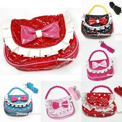 Little Cute Handbag Petti Bag Purse Accessory For Girl Dual Purpose Two Straps
