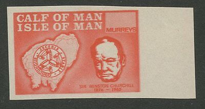 IOM Calf of Man 1967 Churchill Imperf pale red NO VALUE