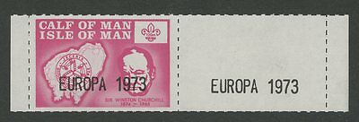 IOM Calf of Man 1973 Europa Churchill Scout logo MISSING BLUE stamp pair