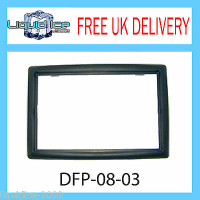 DFP-08-03 Renault Megane Black Double DIN Fascia Facia Adaptor Panel Surround CD