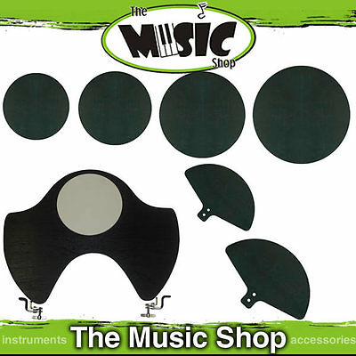 Drum Mute Silencer Set for Rock Drum Kit 7 Pieces - Mutes Pads for Drumkit New