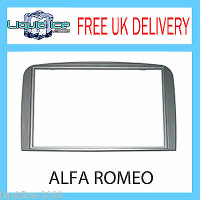 Dfp-09-05 Alfa Romeo 147 Gt 2005- 2010 Silver Double Din Fascia Panel Surround