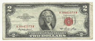 Series  1953~~$2 U S Note~~Vf~~Red Seal
