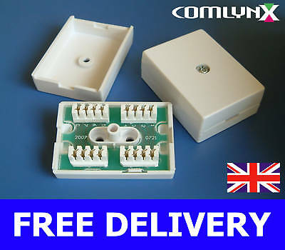 10 x Terminal Block 78A Inline IDC Coupler Junction Box ADSL Extender Joiner