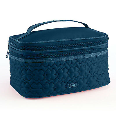 New Lug Travel TWO STEP Cosmetic Train Case Two Tiered Bag CHOOSE A COLOR gift