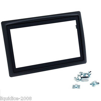 CT24RT08 RENAULT MEGANE 2003 to 2010 BLACK DOUBLE DIN FASCIA ADAPTER PANEL