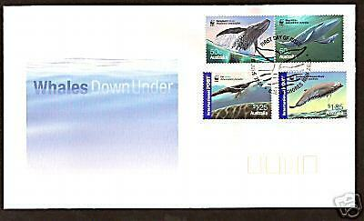 WWF WHALES AUSTRALIA 2006 SET OF 4 Values OFFICIAL FDC