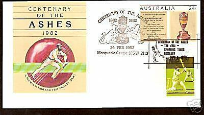 Cricket Ashes 1982 Centenary Envelope Duel Aust/gb Pmk