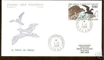 French Antarctic Birds 1988 Fdc