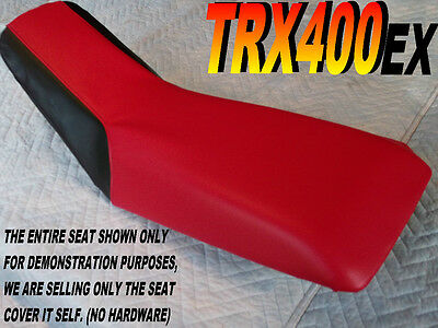 TRX400EX seat cover for Honda TRX 400 EX TRX400 Red with Black sides 283b