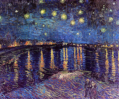 "Vincent Van Gogh -Starry night over the Rhone 20""x26"" Canvas Art Print"