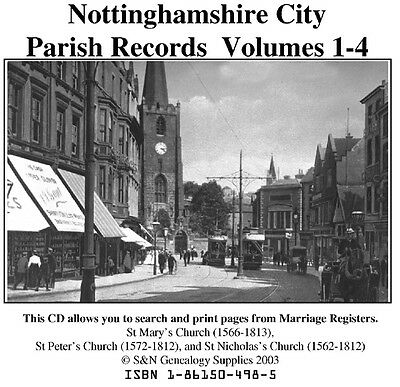Nottingham City Parish Registers - Complete Phillimore Marriages Records