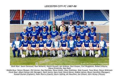 Leicester City Team of 1987-88 Photo