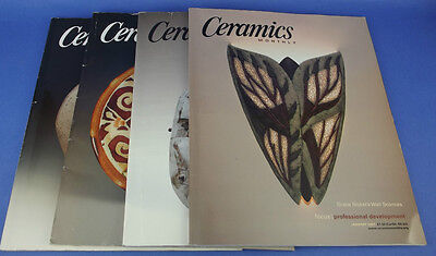 4 CERAMICS MONTHLY Magazine Back Issues 2007 Vol 55 Pottery