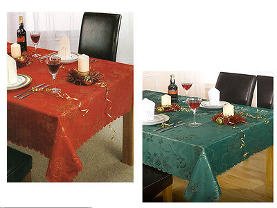 New Luxury Quality Christmas Tablecloth Xmas With Sparkling Gold Threads