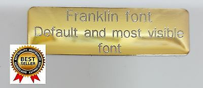 Self Adhesive Brass Engraving Plates,custom Engraved