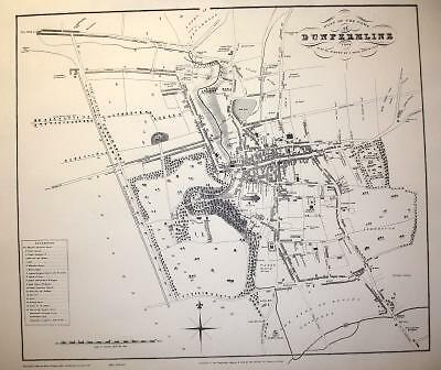 Map Of Dunfermline 1823