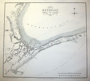 Map Of Rothesay 1825