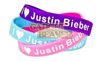 Justin Bieber Silicone Wristband - Available In Purple, Pink Or Blue