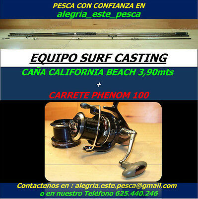 PESCA EQUIPO SURF CASTING (CALIFORNIA BEACH 3.90mts + PHENOM 100)
