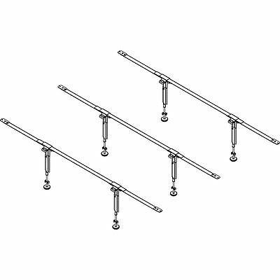 EZ-Lift EL2-11 Steel Bedding Support System, 3 Cross Supports, 2 Legs Each