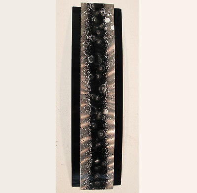 Black & Silver Metal Wall Art Modern Abstract Painting Sculpture Decor by Jones