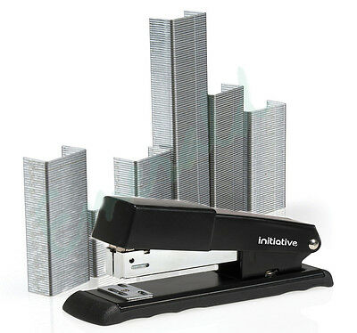 Half Strip Metal Stapler & 2 FREE Packs of 1000 Staples SAME DAY DISPATCH