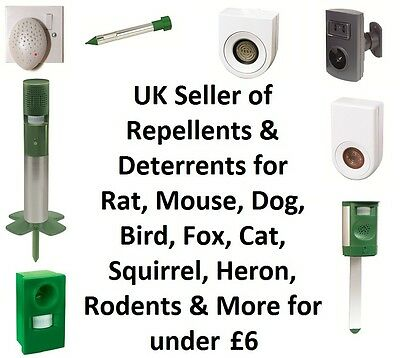 Repel Deter Rat Mouse Mice Cat Dog Fox Rodent Vermin Mole Repellent Deterrent
