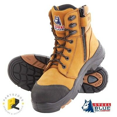 Steel Blue Torquay Zip Composite Safety Toe Boots Airport Friendly Wheat 617539