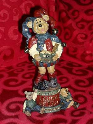 "8"" Boyds Carver's Choice LAUGH OFTEN Bear Figurine MIB COURT JESTER BEAR"