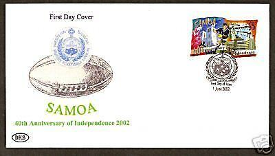 Rugby Union $5 Samoa Independence 2002 Fdc