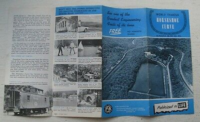 Travel Brochure For Horseshoe Curve Altoona-Blair Co. P.A. 50's