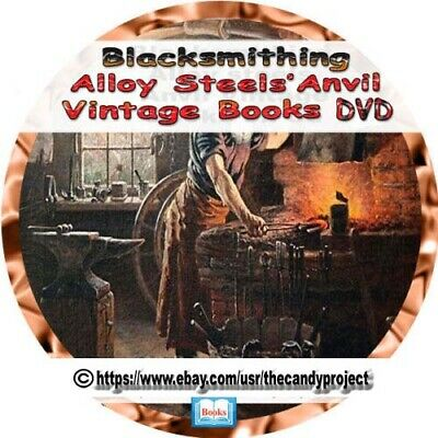Blacksmithing Forge  Welding ARC Metal Iron Copper Gold 352 Vintage Books DVD