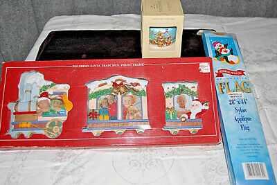 Hallmark 1979 Baby's First Christmas Ornament, Picture Frame and Flag - X620