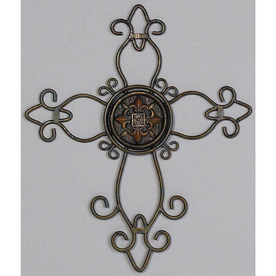 """Wire Wall Cross Plaque - 12"""""""