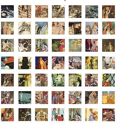 Grimms Fairy Tales Collage Sheet Scrabble Square Images