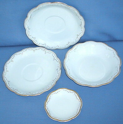 W H Grindley England Butter Pat, Dessert Bowl and 2 Saucers